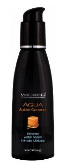 Wicked Aqua Flavored Intimate Lubricant 2oz - Click Image to Close